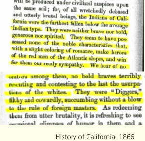 Figure 1:  Excerpt from History of California (1866)